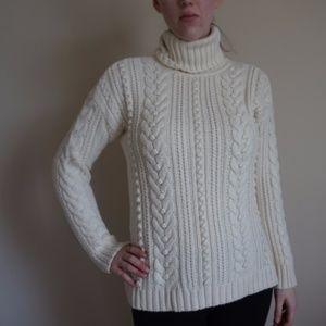 Ann Taylor Large White Sweater